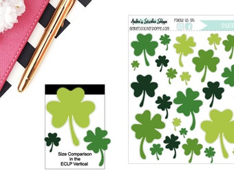 Saint Patrick's Day St. Patty's Day Shamrocks Four Leaf Clovers Sticker for any Planner