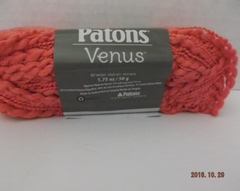 Patons Venus Yarn ~ Blush #10424 ~ 50 grams ~ 133 Yards  #4 Medium ~