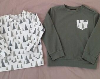 SALE! Ready to ship. Baby organic sweatshirt. Xmas tree // bear