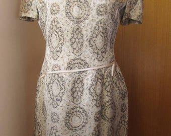 1960s Gold brocade dress