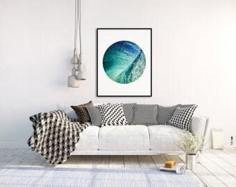 Wave Photo, Wave Print, Ocean Wall Art, Wave Wall Art, Wave Photography, Beach Art Print, Nautical Decor, A4 Print, A3 Print, Sea Poster