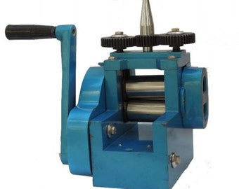 Jewellers Mini Rolling Mill with 7 Rolls 3 Inch Rolling Mill With Free Safety Gear Covers