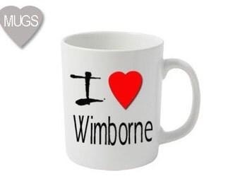 I Love Wimborne mug