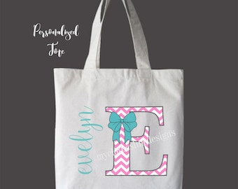 Personalized Girls Tote Bag Overnight Bag Dance Bag