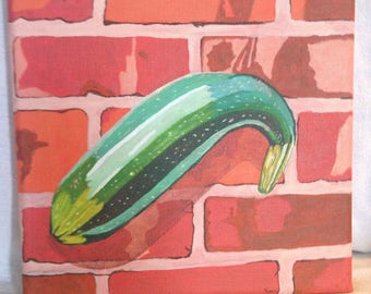 Zucchini on Brick