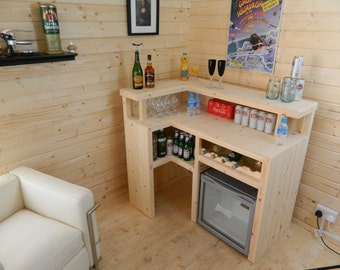 Premium Bar Counter Micro Pub Man Cave Summer house patio garden cabin party 007 - FREE UK DELIVERY