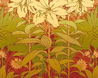 Bradbury Arts & Crafts Poster - Lilies of the Field