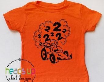Racecar 2nd Birthday Shirt - Toddler Boy Second Birthday tshirt Racecar - Trendy Two Bday Tee Kids - Racecar 2 Birthday Party - Gift - Car