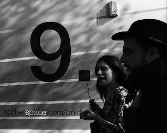 Number Nine Print, Number 9 Print, Number Print, Typography Wall Art, Photography, Art Prints, Black And White Print, Wall Art, London Photo