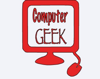 Computer Decal - Computer Geek Decal - Computer Decal - Funny Yeti Decal - Geek Decal