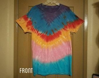 "Size large: ""The Rainbow Trout"" Impromptu Tie Dye shirt #60"