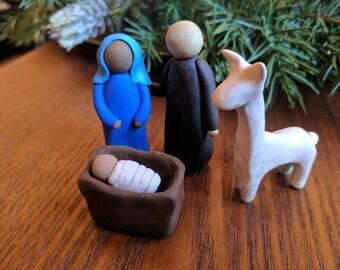 Holy Family with Llama or Alpaca