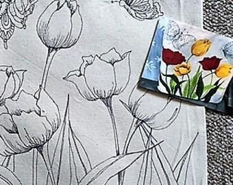 "Fun To Finish ""Tulips, Tulips"" Canvas Tote"