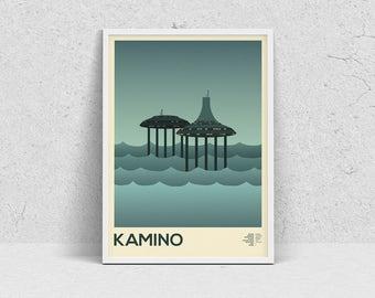 STAR WARS - KAMINO, planet print, travel poster, movie poster, minimalist, fan art