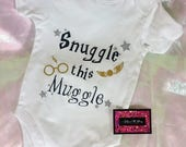 Glitter Baby Onesie  Harry Potter (Snuggle This Muggle)