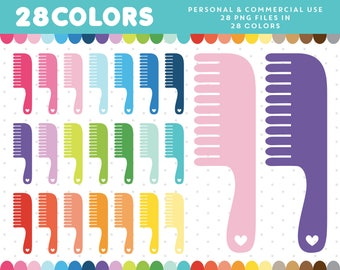 Hair comb clipart, Haircomb clipart, Hairdresser clipart, Hair comb clip art, Barber clipart, Hair clipart, Comb icon, CL-1209