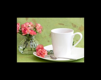 Pink Carnations and Tea