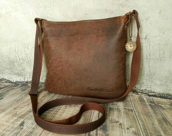 SALE! Before 64 EUR, today 50 EUR Crossbody Bag Leather  Handbag .Bags for Women. Genuine leather  handbag