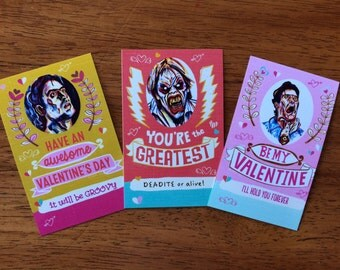 Evil Dead Valentine's Day cards
