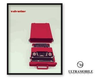 Poster Graphic: Olivetti Valentine   1968. Ultramobile ID - Industrial Design.