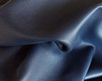 Navy Blue Deerskin Leather / Blue Deerskin / Deerskin Hide / Navy Blue Deerskin / Blue Leather / Genuine Leather / Deerskin / HIDE