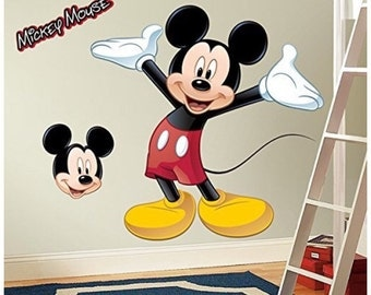 Mickey Mouse birthday/bedroom stick and peel wall decal decor