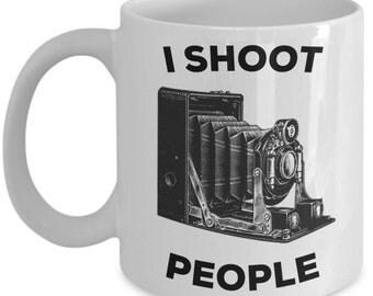 Funny Photography Coffee Mug - I Shoot People - Gifts for Photographers