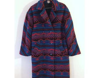 Men's Southwestern Indian Blanket Coat