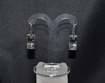 Earrings silver 925 and Urban crystal of Swarovski light comet silver