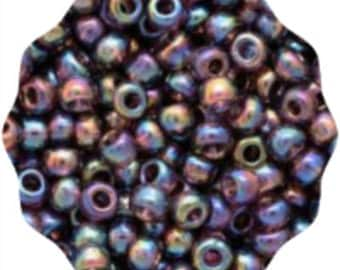 Size 8/0, TOHO Glass Seed Beads, Transparent Rainbow Amethyst (TR-08-166C), 10gram, 3mm, DIY Jewelry, Bead Supply
