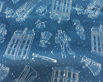 "Dr who fabric, Dr who PUL fabric, PUL fabric, Dr who fabric, 20""x20"" diaper cut"