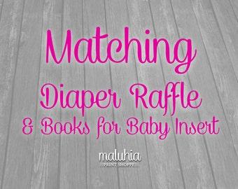 MATCHING Diaper Raffle & Books for Baby Insert