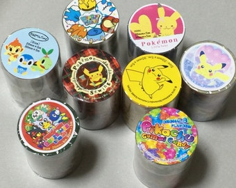 Exclusive for Sale in Japan Pokemon Masking Tapes