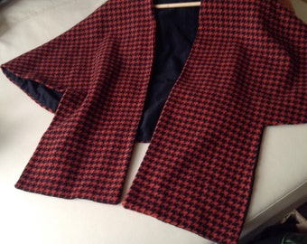 Pretty cloak for Lady, black and red, Plaid,