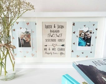 Wedding Frame/ Anniversary Gift/ Wedding Frame/ Engagement Gift/ Gifts For Couples/ Wedding Present/ Happy Couple Gift/ Engagement Frame