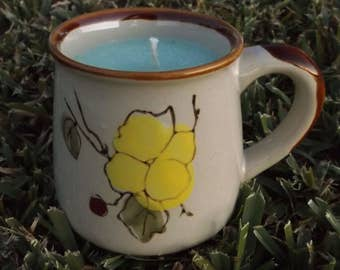 White Tea Soy Wax Mug Candle ~ Hand Poured