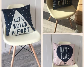 but first coffee nordic style hessian cushion cover