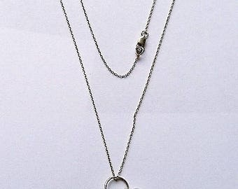 1980S silver pendant NECKLACE DOLPHIN