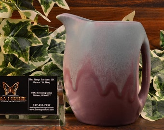 Muncie Pottery Pitcher, 1930 Green over Lilac Pitcher #466-5 2A