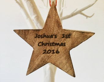 Rustic christmas star decoration