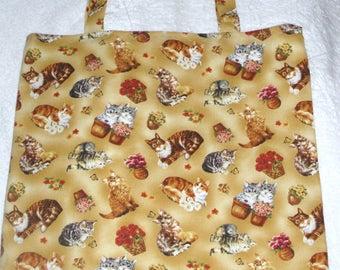 Pretty Kitties cloth shopping bag