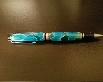 Blue Green Acrylic Classic Twist Pen
