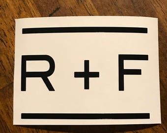 R + F vinyl decal