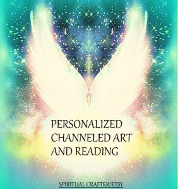 Personalized Channeled painting with reading - Intuitive art, custom healing art, reading for your soul,Reiki energized.