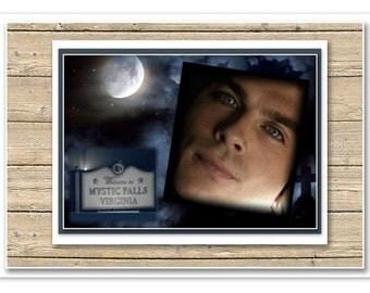The Vampire Diaries, Damon Salvatore, Ian Somerhalder, printed posters A4.