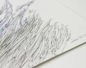 PROMO Soft Abstract Seascape Wave  Watercolour Ooak quadro mare astratto pezzo unico No print abstract painting modern art watercolor art