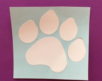 Paw print, paw, dog paw, cat paw, paw decal, paw iron on