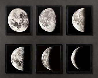 Moon map  Etsy