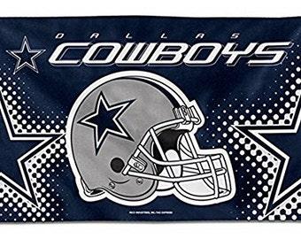 Dallas Cowboys Flag 3 x 5 Flying Helmet NFC NFL Cowboy Nation Stars and Stripes USA