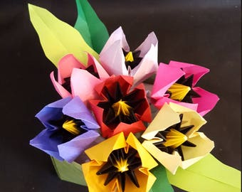 Origami Flowers Bouquet: Tulips